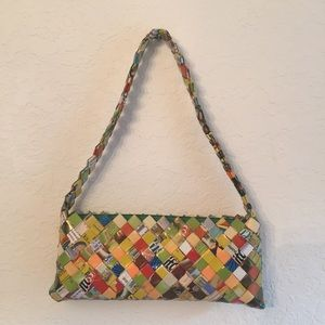 Vintage candy wrapper small purse clutch, cute!